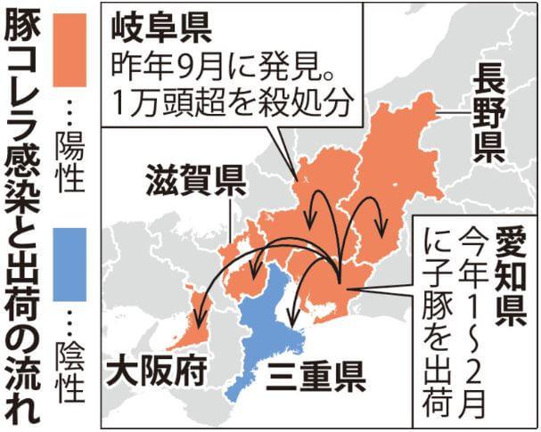 豚コレラは5府県へ感染拡大
