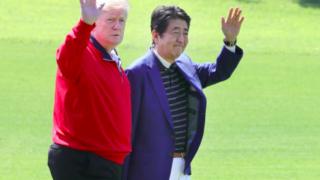 トランプ大統領来日,ゴルフ,茂原カントリー倶楽部