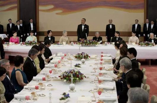 トランプ大統領,天皇陛下、宮中晩餐会