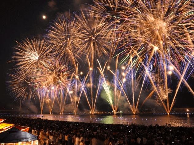 福山夏まつり2019あしだ川花火大会は台風10号で延期か中止?払い戻しは?