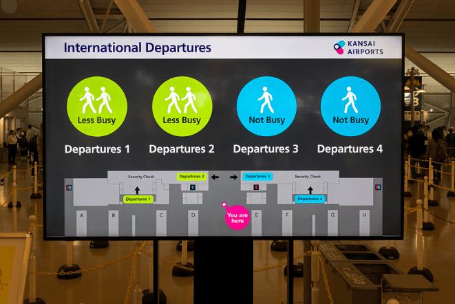 関西国際空港(関空)の保安検査場やチェックインカウンターの混み合う時間帯は?