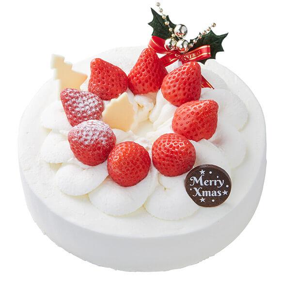 シャトレーゼのクリスマスケーキ2019はXmas苺デコレーション (17cm)