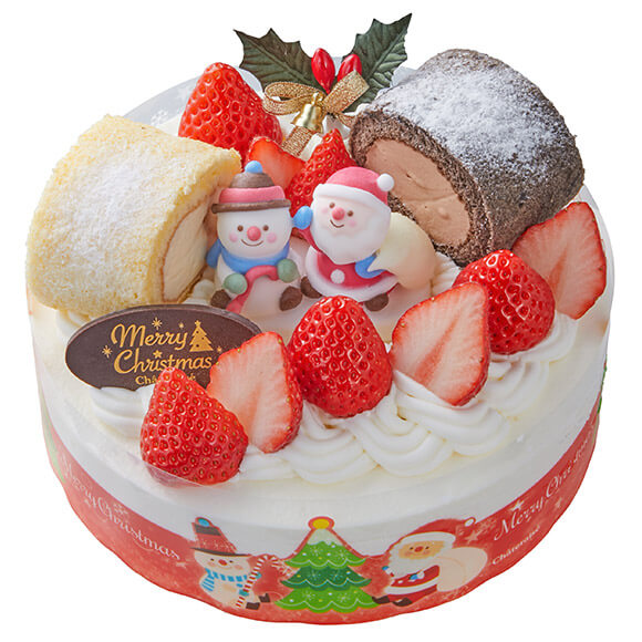 シャトレーゼのクリスマスケーキ2019のXmasショートデコレーション (18cm)