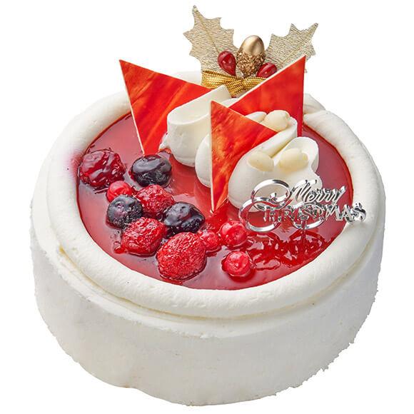 シャトレーゼのクリスマスケーキ2019!フランス産クリームチーズ使用 Xmas4種ベリーのスフレチーズデコレーション