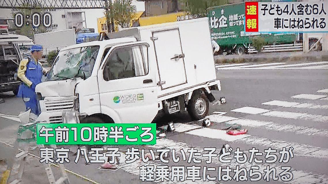 【顔画像】八王子の園児へ車暴走事故の犯人は誰?原因や名前は?現場どこ?