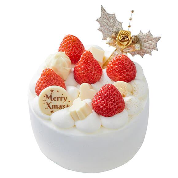 シャトレーゼのクリスマスケーキ2019はXmas 苺のホワイトデコレーション