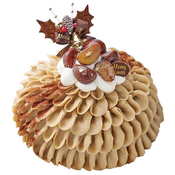 シャトレーゼのクリスマスケーキ2019は国産和栗使用 Xmasモンブランデコレーション