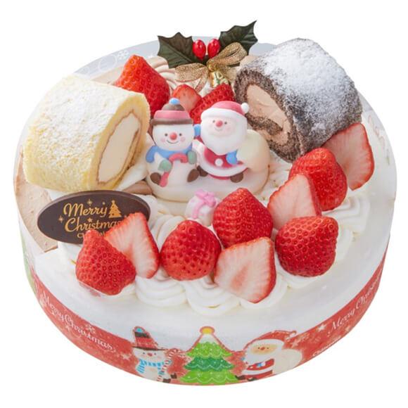 シャトレーゼのクリスマスケーキ2019!Xmas 2つの味が楽しめるデコレーション