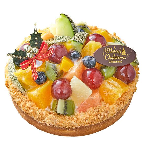 シャトレーゼのクリスマスケーキ2019!Xmasフルーツタルトデコレーション