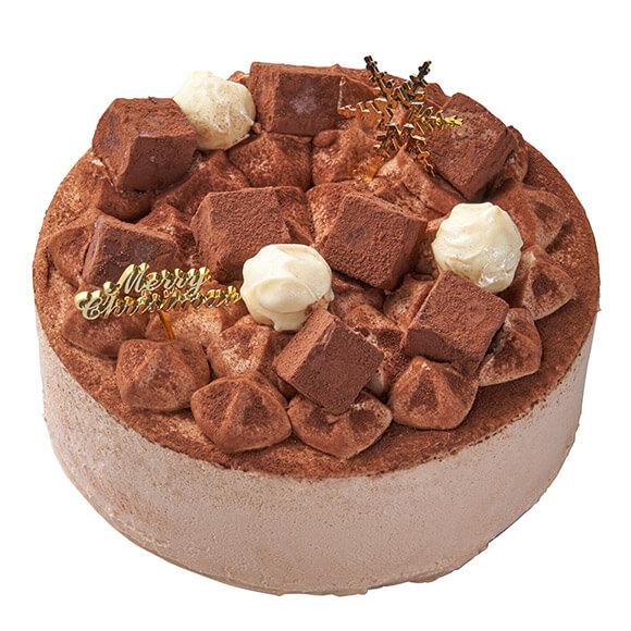 シャトレーゼのクリスマスケーキ2019はXmas 生チョコとパリパリチョコのデコレーション