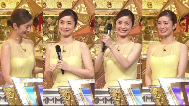 【M-1グランプリ2019】上戸彩のワンピースドレス衣装のネットの反応は?