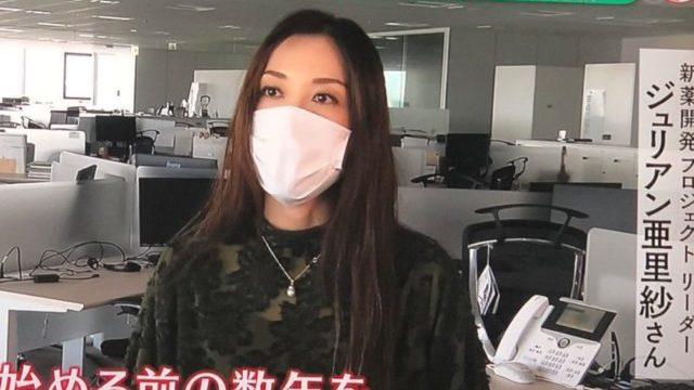 ジュリアン亜里沙さんのマスク無し画像が可愛い