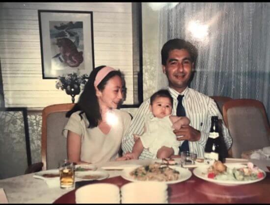 河内セリアと両親の写真