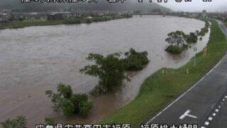 【広島被害】大雨の江の川の現在の水位やライブカメラの状況は?氾濫情報まとめ