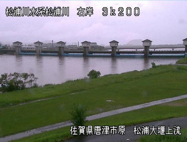 松浦川の時間経過の水位のまとめ