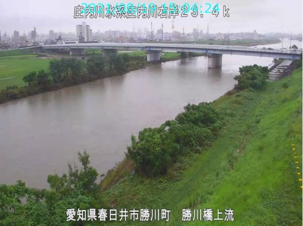庄内川の時間経過の水位のまとめ